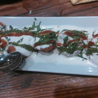揚げナスのヨーグルトサラダ(グルガオン)