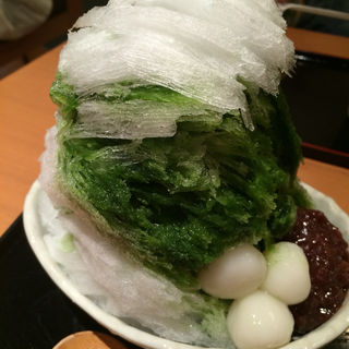 カキ氷(抹茶あずき)(松崎煎餅 お茶席 )