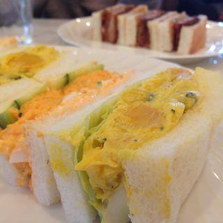 かぼちゃサラダチーズ&ふわふわ玉子のミックス(サンドウィッチファクトリー (SANDWICH FACTORY))