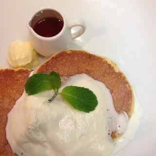 リコッタチーズパンケーキ(f cafe)