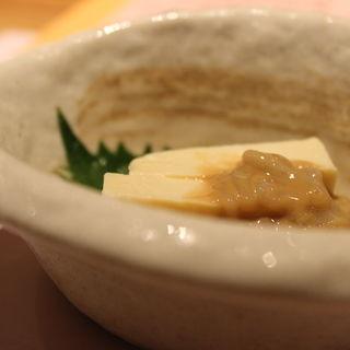 豆腐の味噌漬といか塩辛(四代目庄次平)