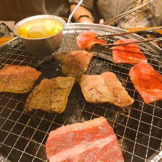 タン塩 壺カルビ 上カルビ(肉の町 (ニクノマチ))
