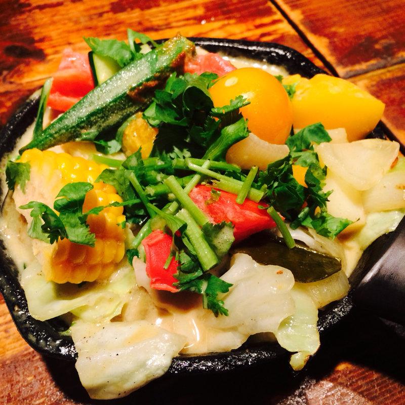 一日分の野菜カレー タイ風グリーンカレー