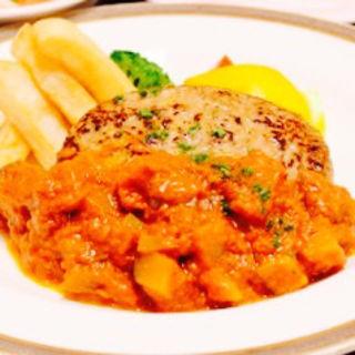 ミートソースハンバーグ(レストランイイジマ )