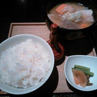 銅釜炊きごはんと豚汁のセット( 酢重DINING (すじゅうダイニング))