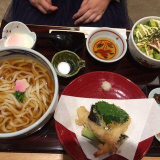 天ぷらうどんセット(つるはん くずはモール店 )
