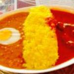 キーマエッグとトマトの三色カレー(ディップマハル 青山店 (Dipmahal))