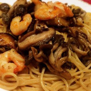 小海老とキノコのスパゲッティ(ハシヤ )