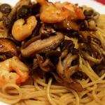 小海老とキノコのスパゲッティ