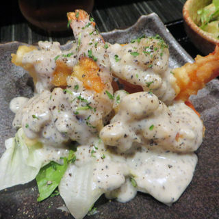 海老のオニオンマヨ定食(食人 (しょくにん))