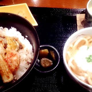 夏野菜天丼とおうどん(転石亭 流石 (【旧店名】赤坂 転石亭))