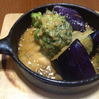 南部鉄器の野菜ステーキ(かまどのご飯 喜乃国屋)