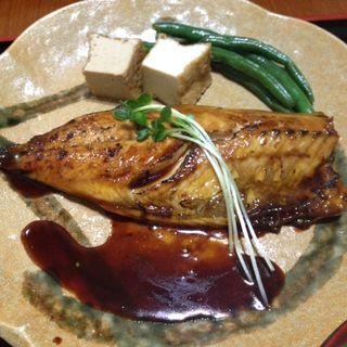 サバの蒲焼き定食(かまどのご飯 喜乃国屋)