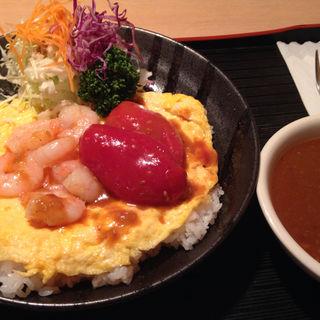 海老トマト卵カレー(黒んぼ食堂 )