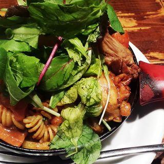 一日分の野菜カレー+完全食セット+パスタ(野菜を食べるカレー camp)