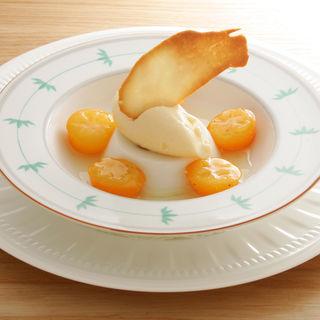 林檎のブリュレ  アールグレイのアイス(丁未 坂)