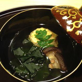 つみれの椀物(懐石料理 はし本 )