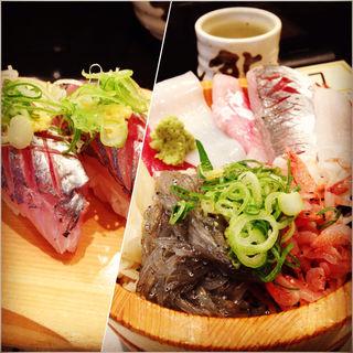地鯵寿司 沼津丼(魚がし鮨三島駅店)