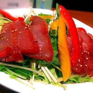 燻製まぐろと水菜のサラダ(海宴丸武蔵小杉店)