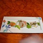 鮮魚の3種盛り