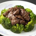 牛肉のカキソース炒め (香港ダイニング 富貴)