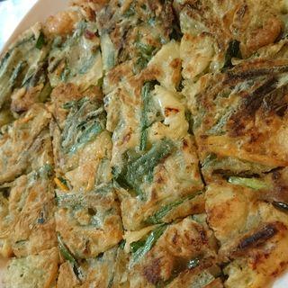 海鮮チヂミ(どりどり (韓国式鶏料理DORIDORI))