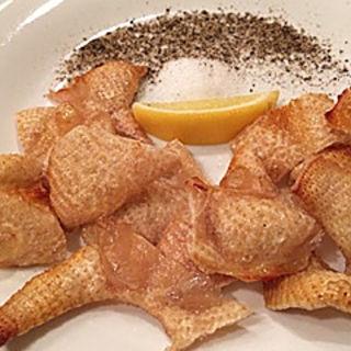 赤鶏の皮塩焼き(わいん厨房たるたる )