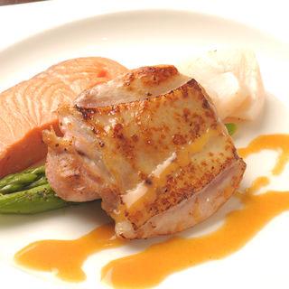 軍鶏正肉軽い炙り焼き 梅しそ(一羽 軍鶏・鶏料理)