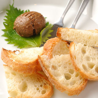 手作りレバーパテ バケット添え(一羽 軍鶏・鶏料理)