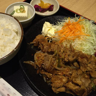 豚キムチ定食(ゆず家 四条烏丸店 )