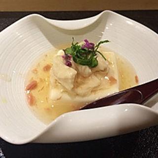 チーズ豆腐 湯葉の酒盗あんかけ(宵山むらさき)