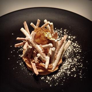モンブラン 柿とエスプレッソのアイスクリーム(コートドール )