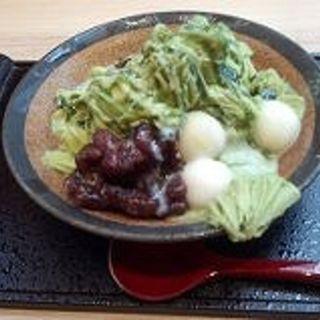 抹茶のかき氷(かんみこより 川西阪急店 )