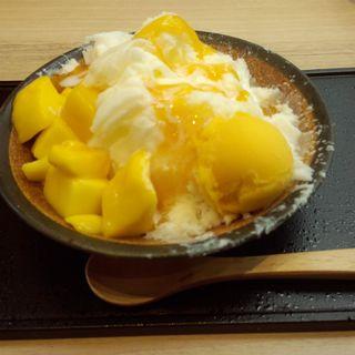 マンゴーのかき氷(かんみこより 川西阪急店 )
