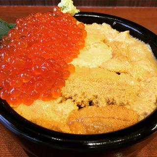 ウニ丼+いくらトッピング(魚屋の台所)