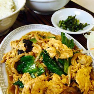 木須炒蛋定食(豚肉と玉子野菜入り炒め)(桂林)