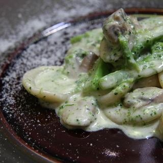 ローマの下町で愛されてるポルチーニ茸のクリームソース フェットゥッチーネ(イルバンビナッチョ )