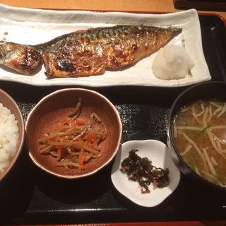 焼き魚定食 さばの塩焼き(角打 )