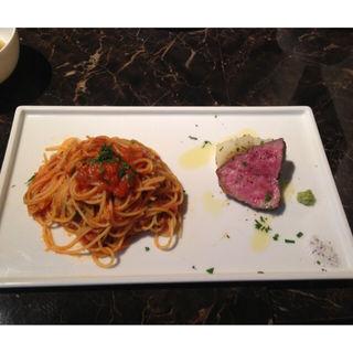 熟成肉とパスタのランチセット(グルメドクターイタリアン)