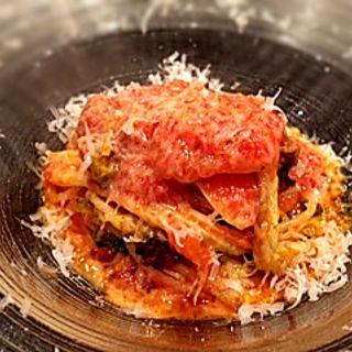 霜降り白菜のスパゲッティ アラビアータ(グリーチネ )