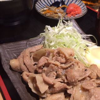 日替り定食:豚の生姜焼き(こころ )