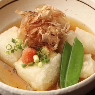 豆腐とお餅の揚げだし(銀座樽丸 )