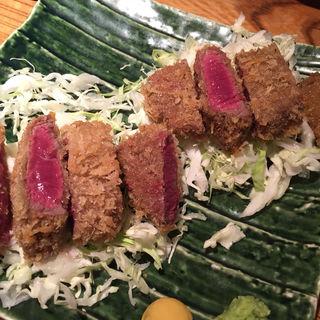 牛ヒレのレアステーキ(煮炊魚金 (うおきん))