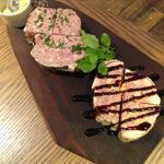 お肉の前菜2種盛り合わせ