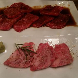 和牛赤身肉の3種盛りセット(恵比寿焼肉 kintan (エビスヤキニクキンタン))