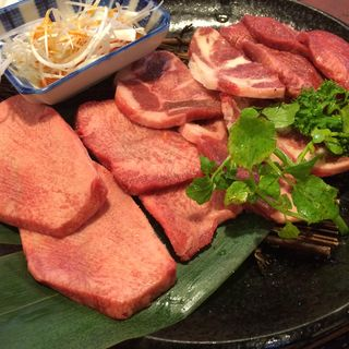 タン4種盛り(肉の田じま 焼肉レストラン (ニクノタジマ ヤキニクレストラン))