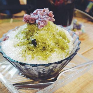 抹茶のかき氷(もんぺまるけ )