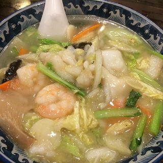 海老入り拉麺(杏花楼 新百合ヶ丘店 (キョウカロウ))