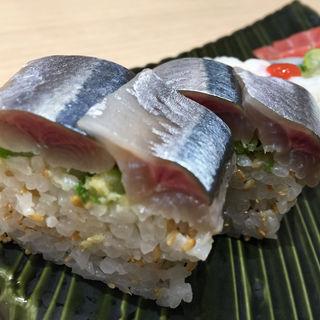 さんま棒寿司2貫(しおや 寿司店 新梅田食道街 )