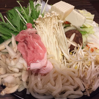 豚しゃぶ鍋(とりなべ亭)